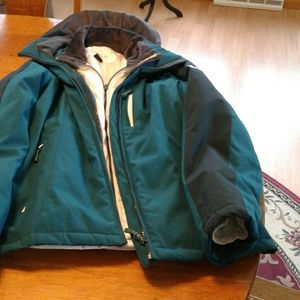 Teal XBLK by Zeroxpour winter coat size m